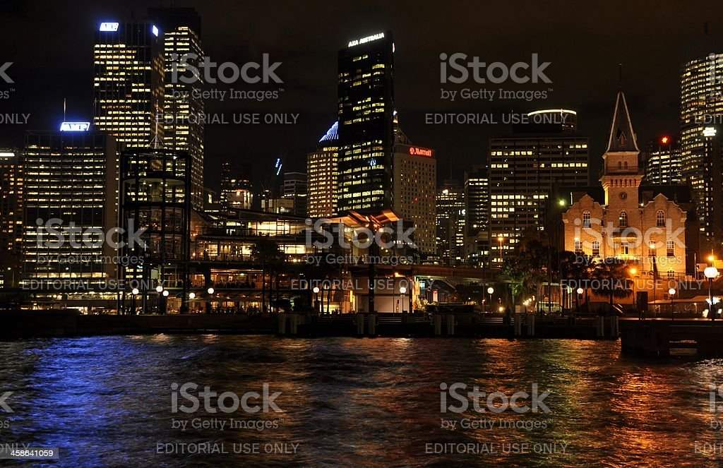 Sydney Harbour at night royalty-free stock photo