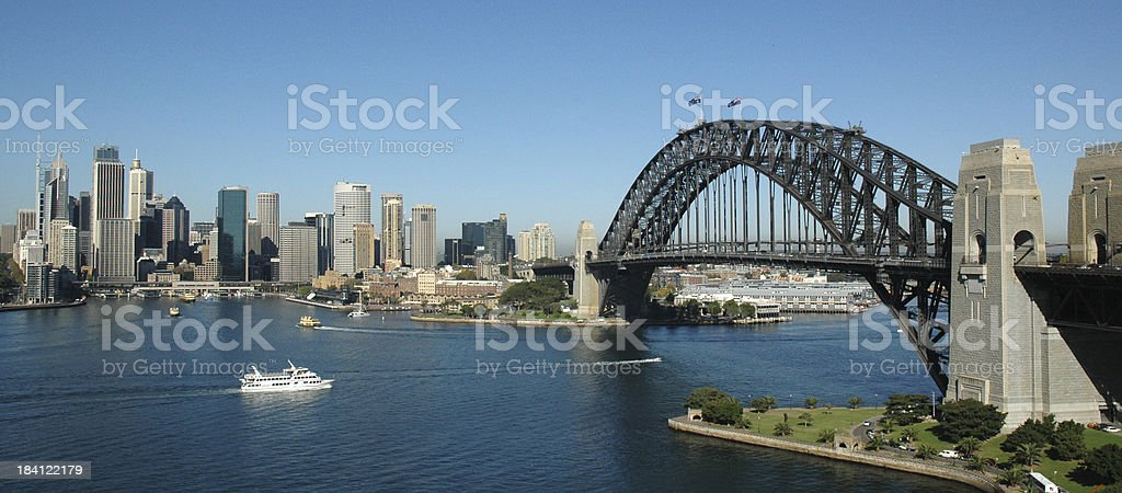 Sydney Harbour Bridge & CBD, Sunny Day royalty-free stock photo