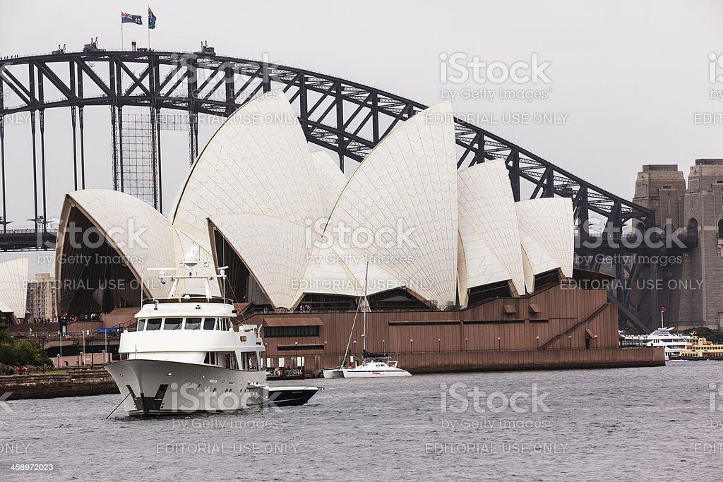 Sydney Harbour bridge & the opera house royalty-free stock photo