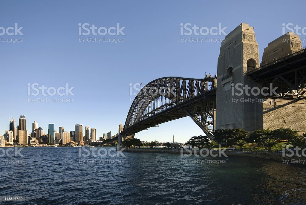 Sydney Harbour Bridge and CBD royalty-free stock photo