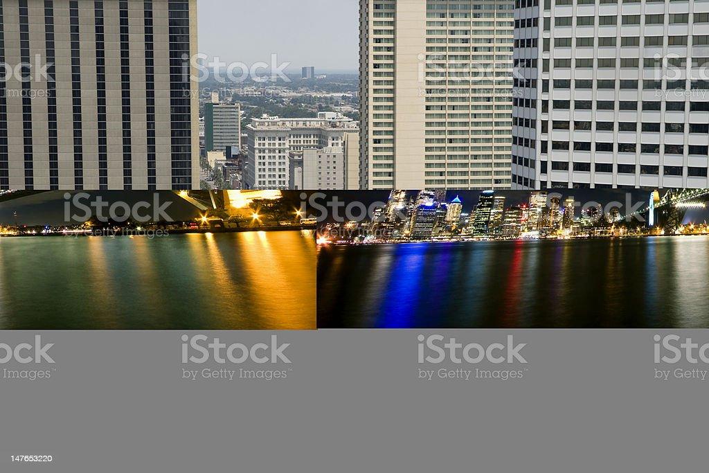 Sydney Harbour Bridge and City Paranoma royalty-free stock photo