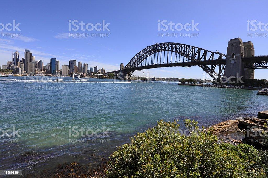 Sydney Harbour Bridge and City royalty-free stock photo