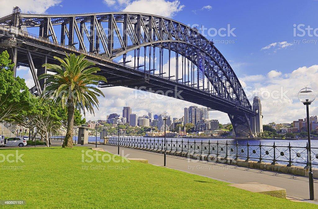 Sydney Harbour Bridge and City Skyline, Australia stock photo