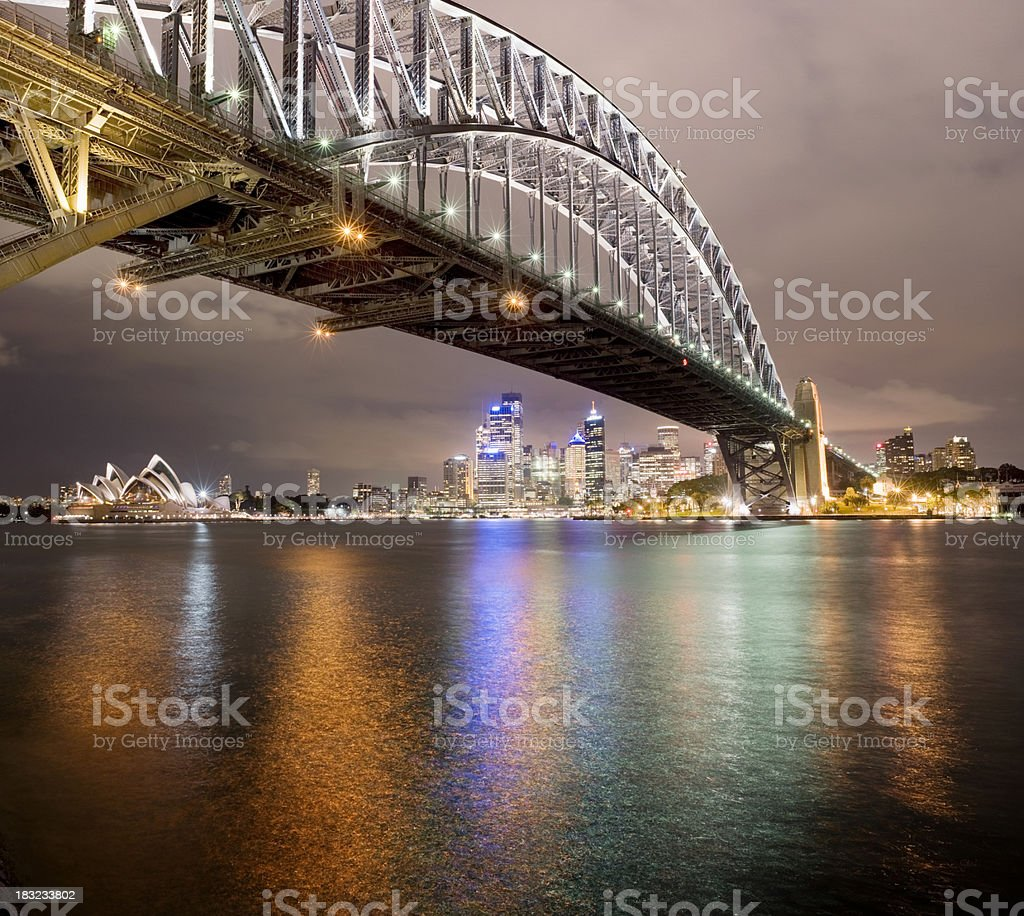 Sydney Harbour Bridge and City Skyline in Australia royalty-free stock photo