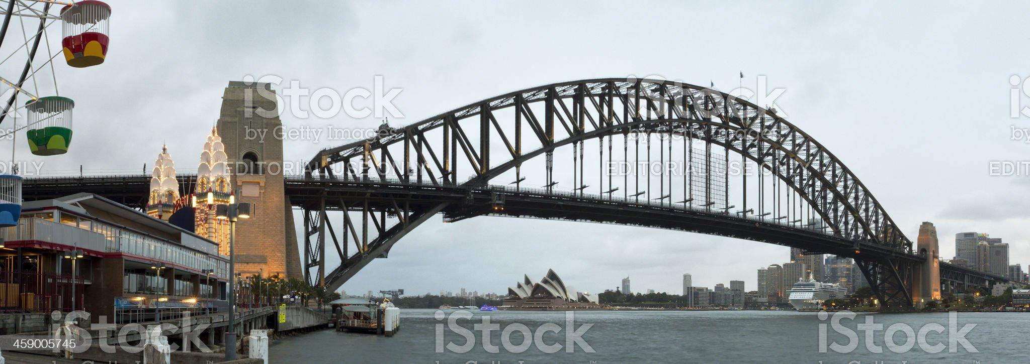 Sydney Harbour Bridge and Luna Park royalty-free stock photo