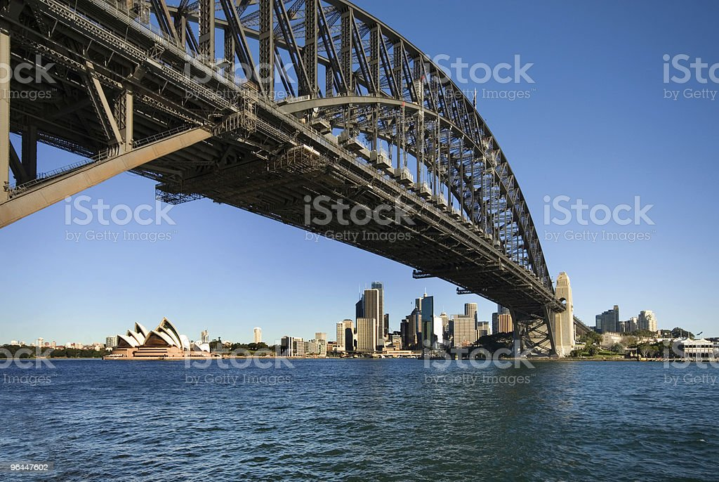 Sydney Harbour Bridge and Opera House, Australia royalty-free stock photo