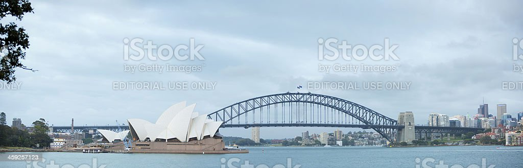 Sydney Harbour Bridge and Opera House royalty-free stock photo