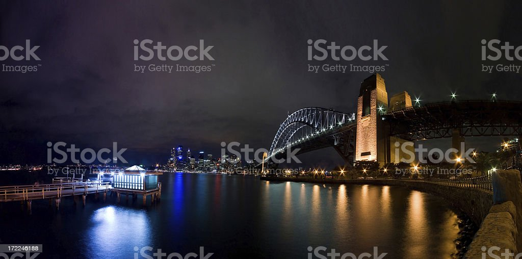 Sydney Harbour Bridge and the CBD royalty-free stock photo