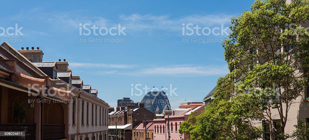 Sydney Harbour Bridge and The Rocks stock photo