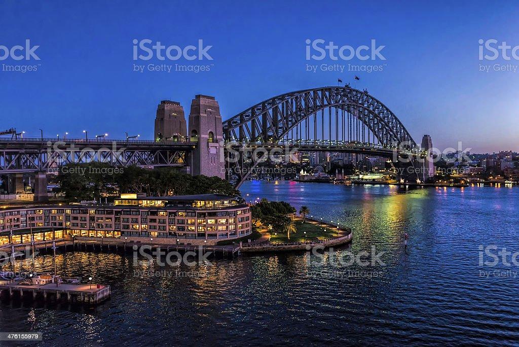 Sydney Harbour Bridge at Dawn stock photo