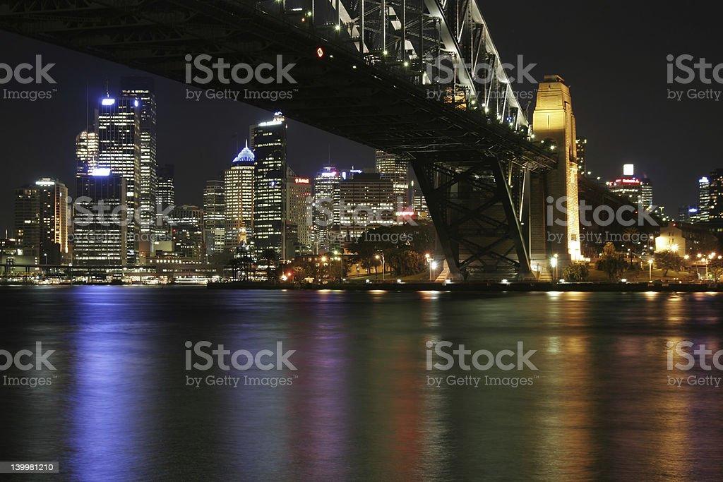 Sydney Harbour Bridge At Night royalty-free stock photo