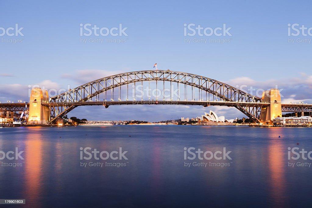 Sydney Harbour Bridge at Twilight royalty-free stock photo