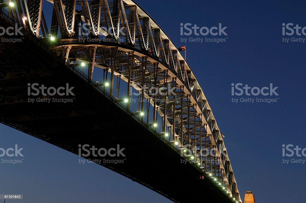 Sydney - Harbour bridge, Australia after dark royalty-free stock photo