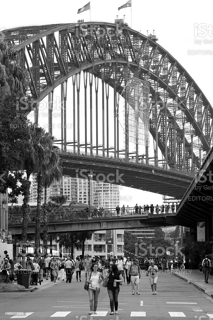 Sydney Harbour Bridge Black and white royalty-free stock photo