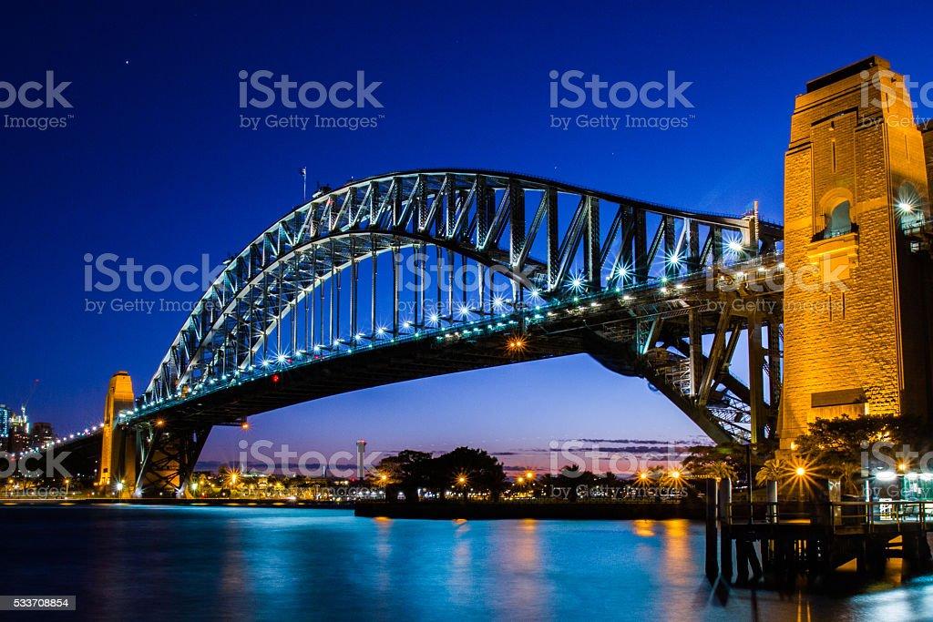 Sydney Harbour Bridge by Night stock photo