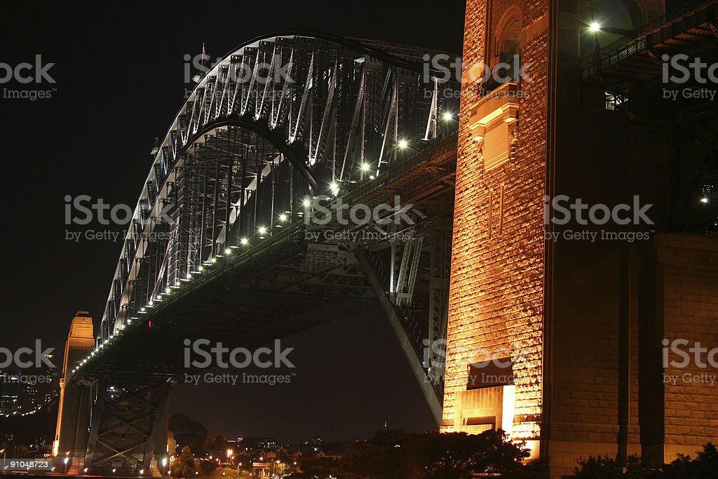 Sydney Harbour Bridge - 'Coathanger' at night (High Resolution) royalty-free stock photo