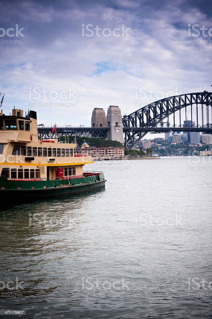 Sydney Harbour bridge Ferry for passangers royalty-free stock photo