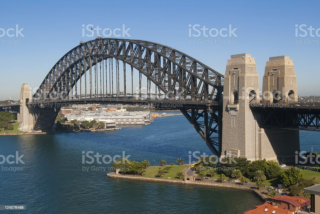 Sydney Harbour Bridge from Kirribilli stock photo