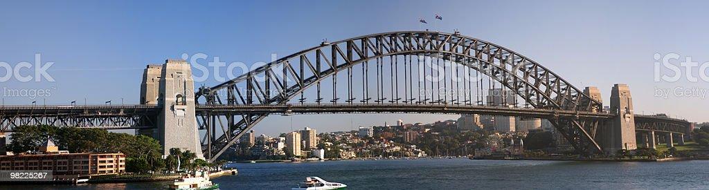 Sydney Harbour Bridge Morning Panorama (XXL High Resolution) royalty-free stock photo
