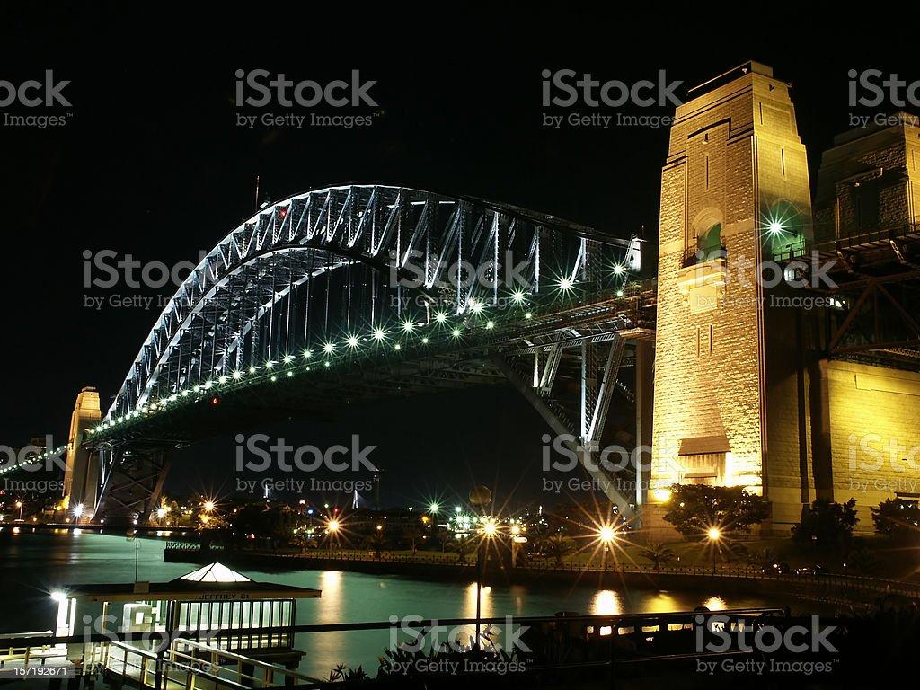 Sydney Harbour Bridge @ Night royalty-free stock photo