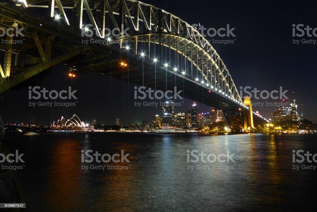 Sydney Harbour Bridge Night Shot stock photo
