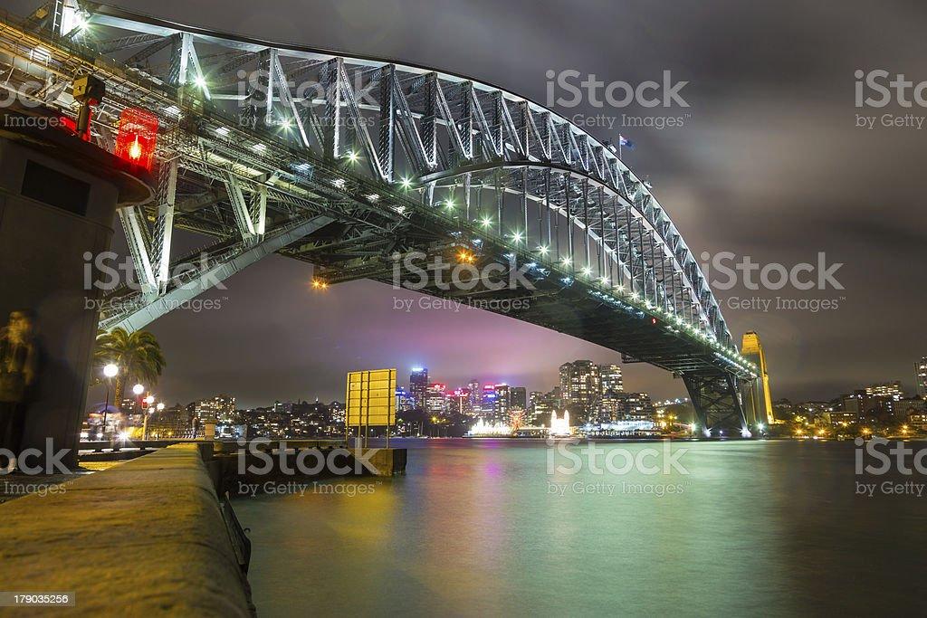 Sydney Harbour Bridge seen from The Rocks royalty-free stock photo