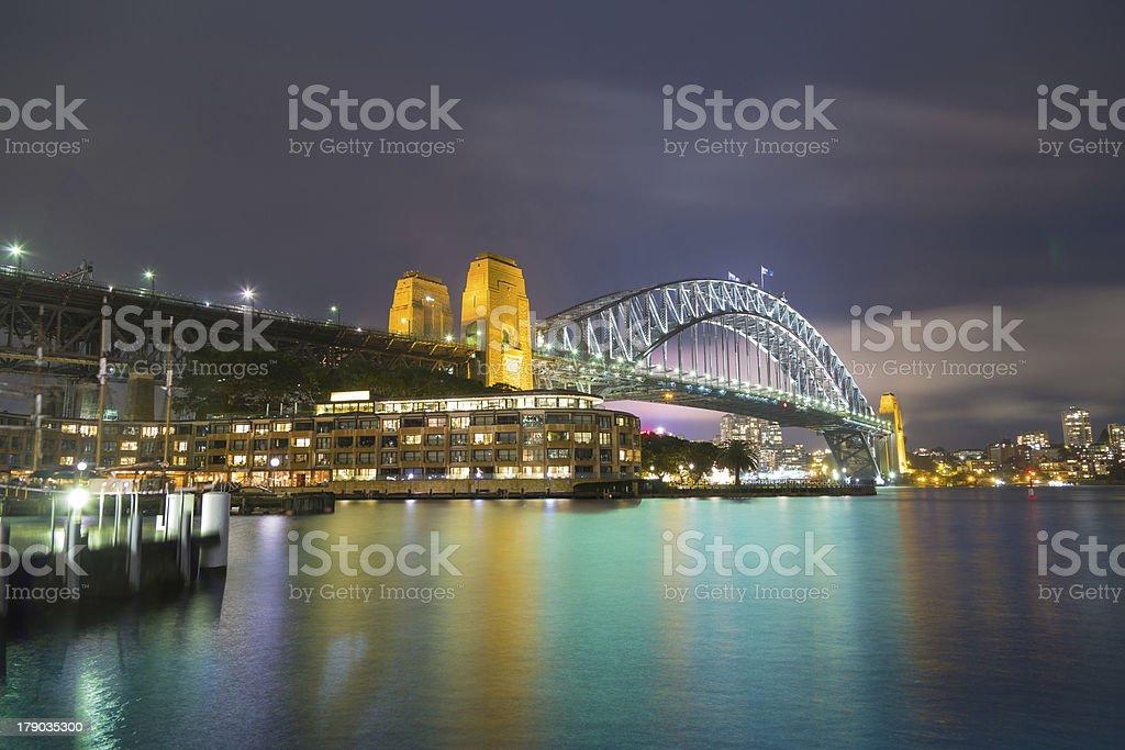Sydney Harbour Bridge seen from The Rocks stock photo