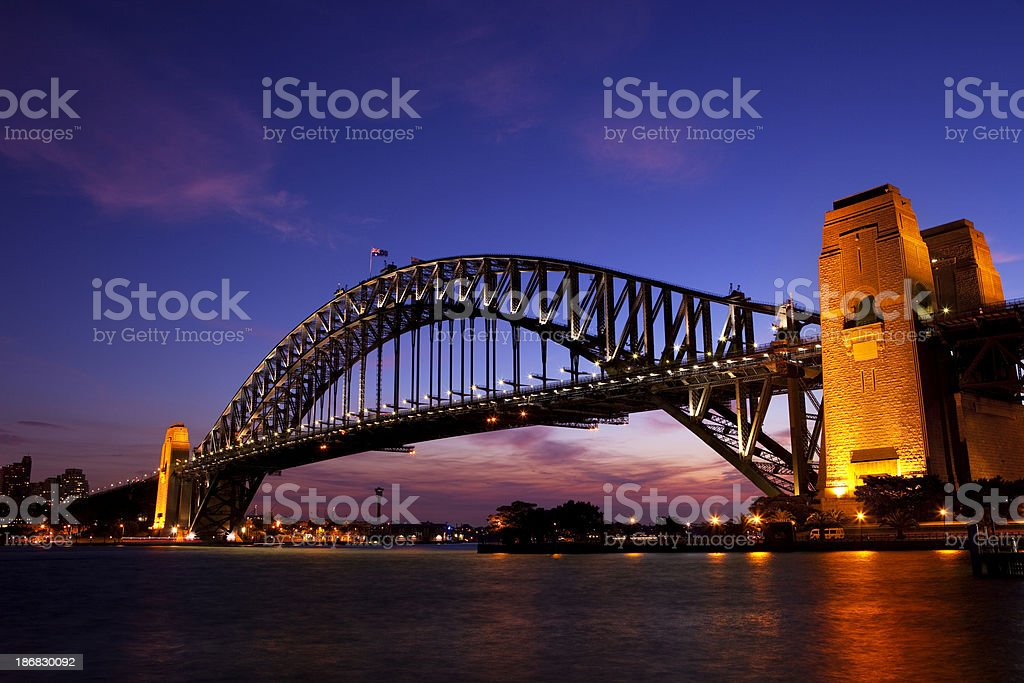 Sydney Harbour Bridge Sunset royalty-free stock photo