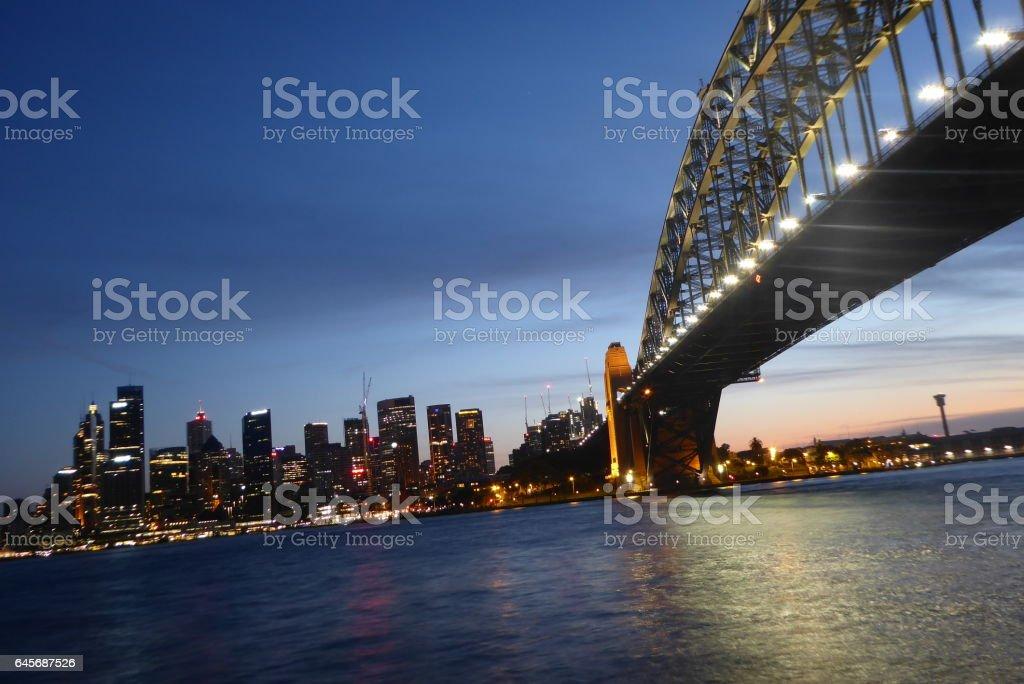 Sydney Harbour Bridge Sunset stock photo