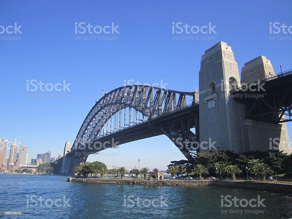 Sydney Harbour Bridge towards Downtown stock photo