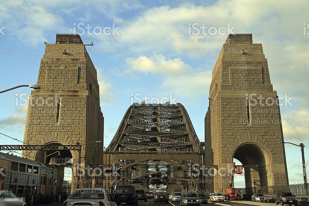 Sydney Harbour bridge's traffic royalty-free stock photo