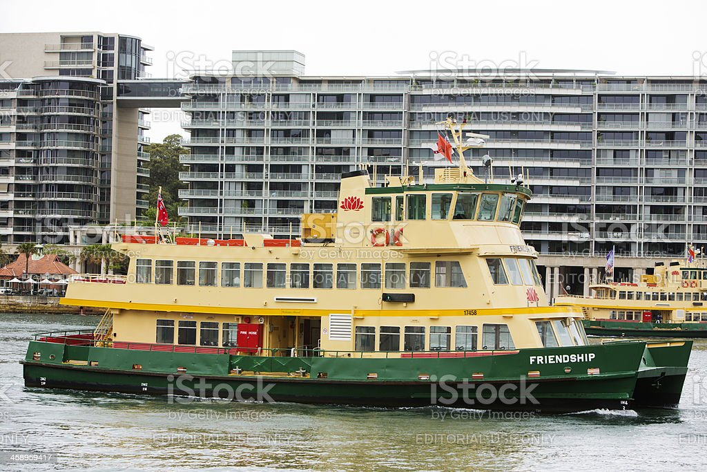 Sydney Harbour Ferry at Circular Quay royalty-free stock photo