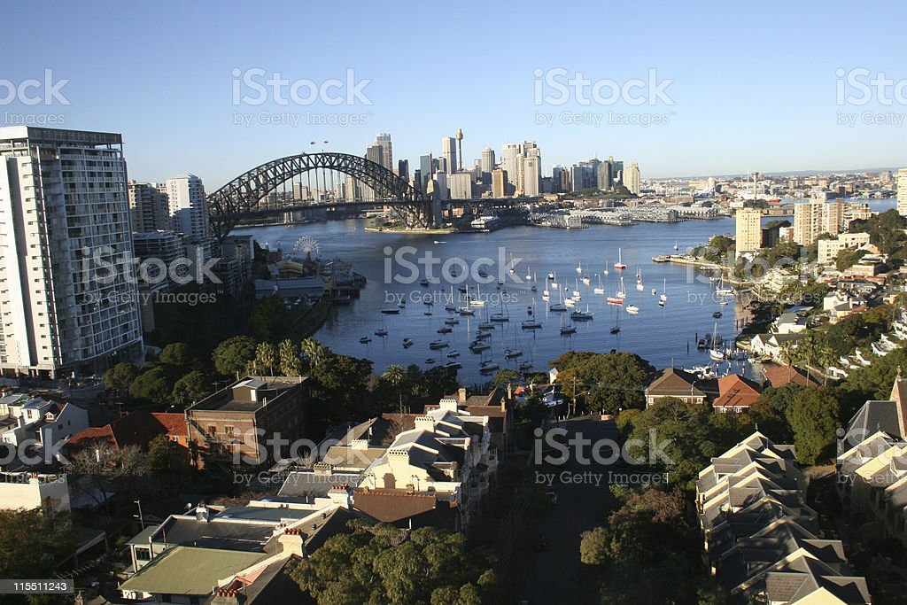 Sydney Harbour from the North stock photo