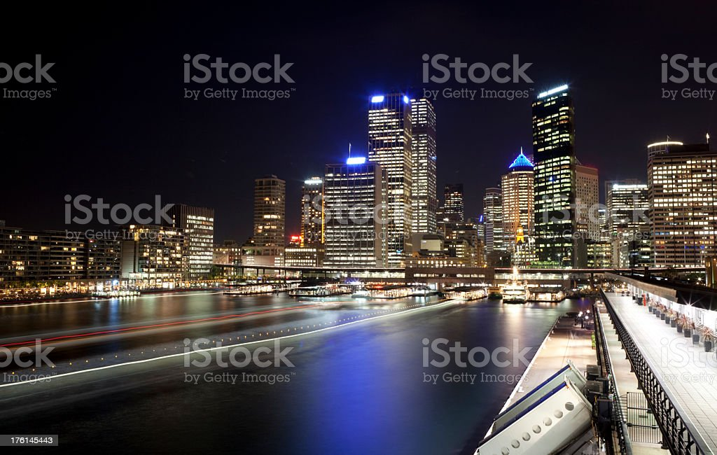 Sydney Harbour Lights royalty-free stock photo