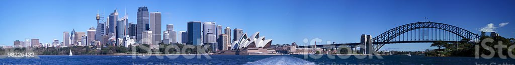 Sydney Harbour Morning Panorama (XXL High Resolution) royalty-free stock photo