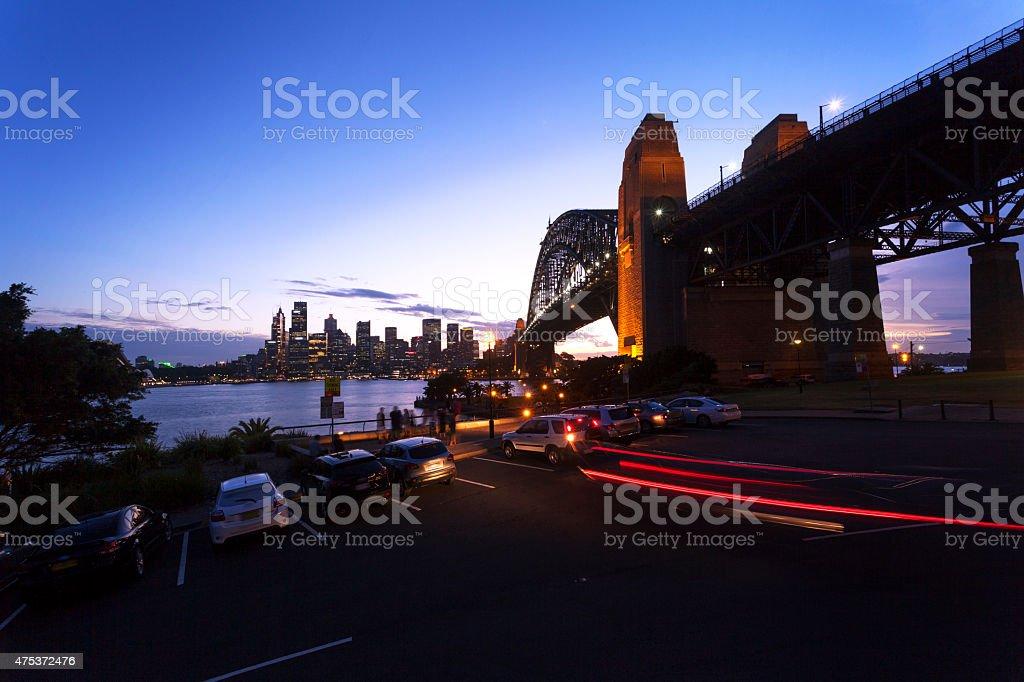 Sydney Harbour Night stock photo