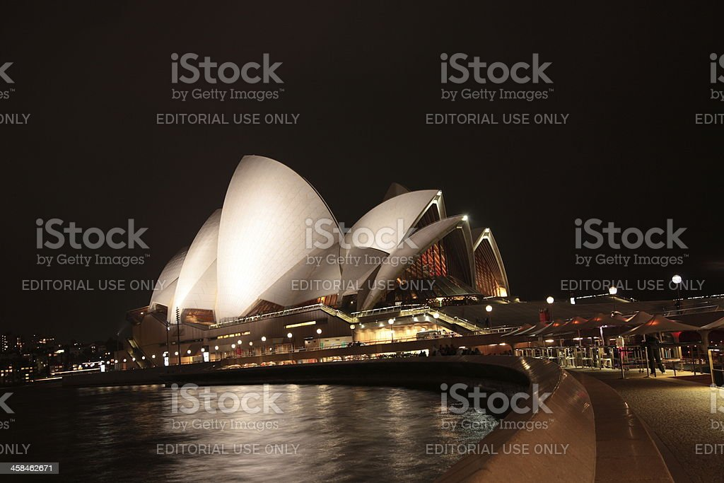 Sydney Harbour opera house night view royalty-free stock photo