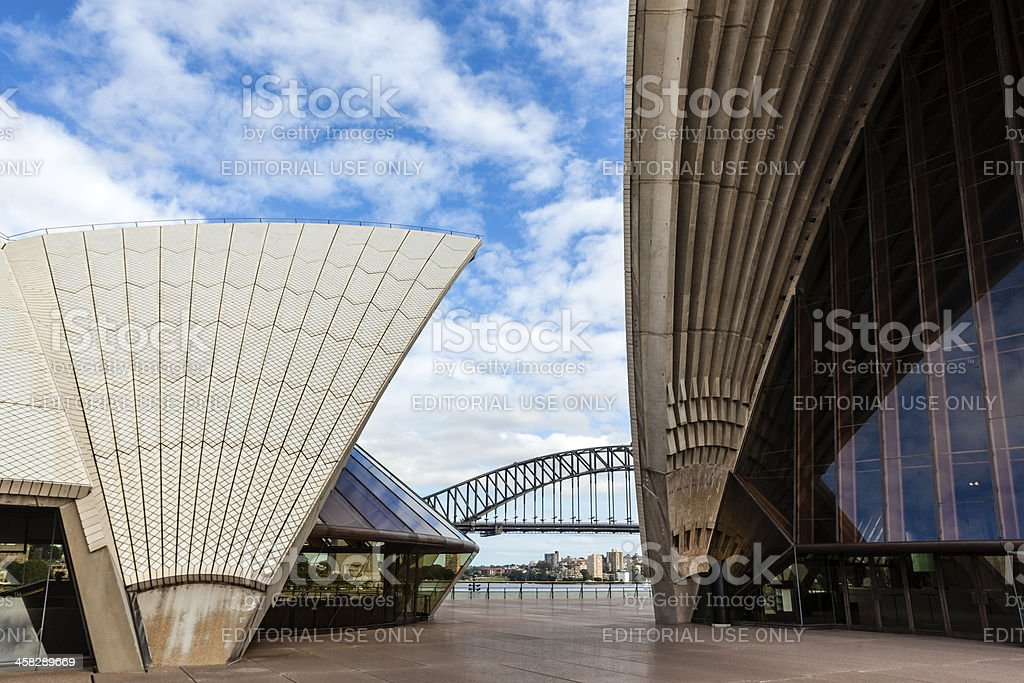 Sydney Harbour & opera house royalty-free stock photo