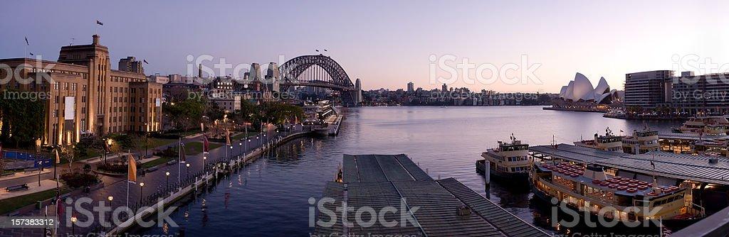 Sydney harbour panaorama royalty-free stock photo