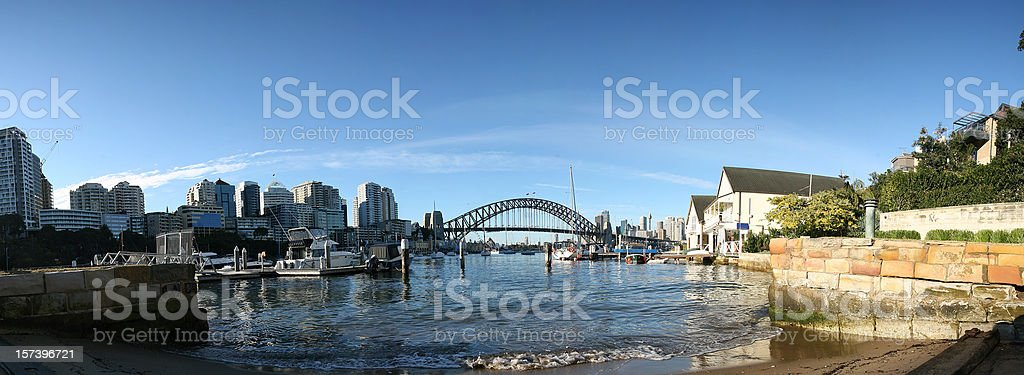sydney harbour panorama royalty-free stock photo