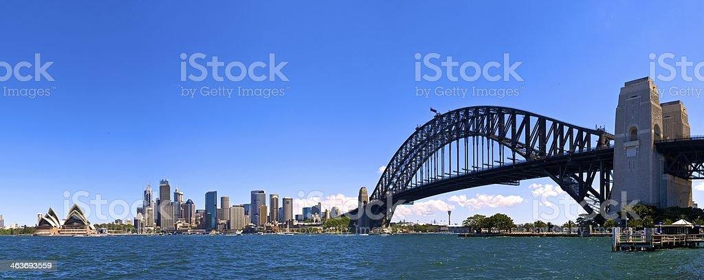 Sydney Harbour Panorama stock photo