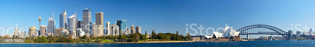 Sydney Harbour Panoramic stock photo