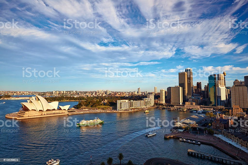 Sydney Harbour Scene From 2009 stock photo