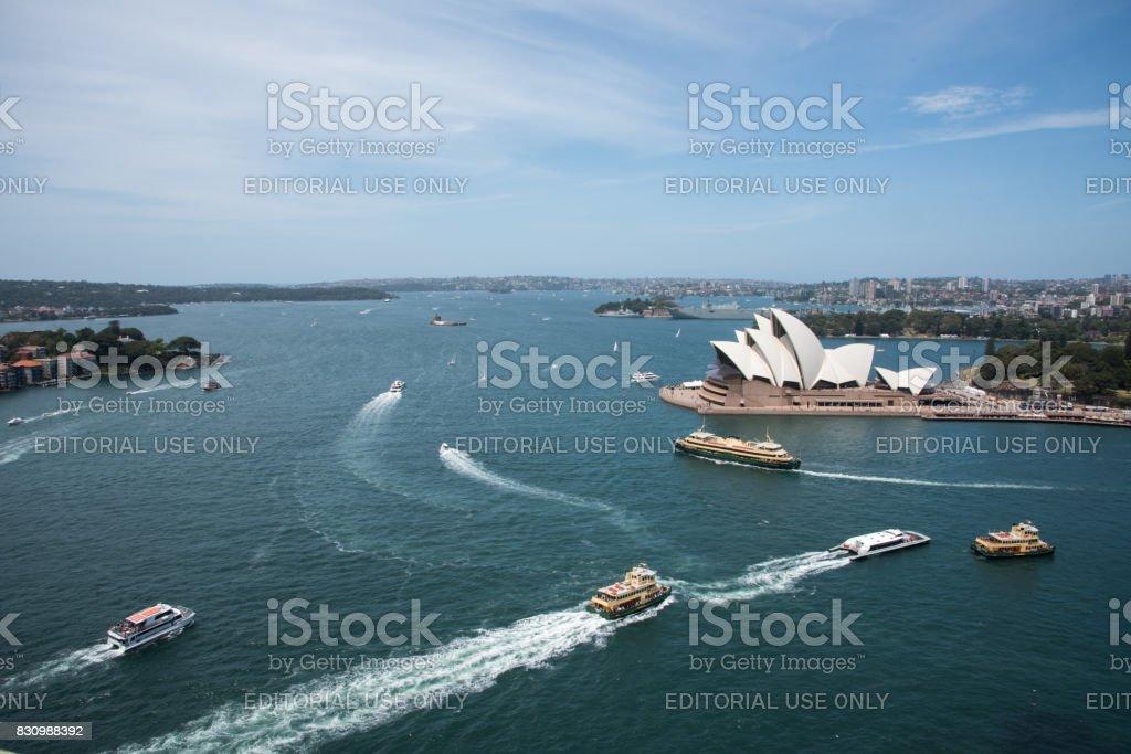 Sydney Harbour Scene stock photo