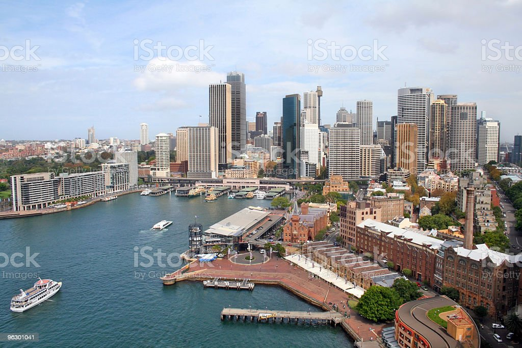 Sydney Harbour & Skyline royalty-free stock photo