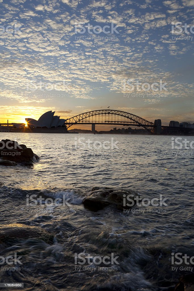 Sydney Harbour Sunset royalty-free stock photo