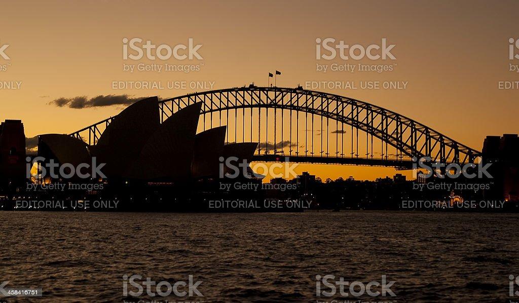 Sydney Harbour Sunset stock photo