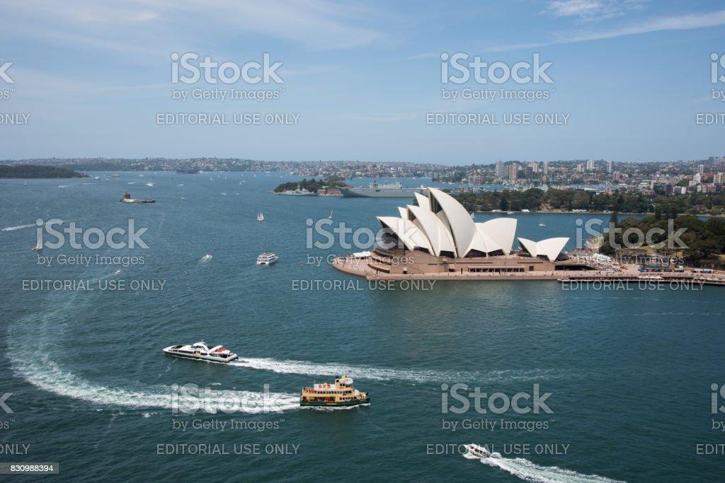 Sydney Harbour Traffic stock photo