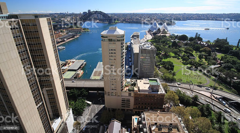 Sydney Harbour Wide Angle royalty-free stock photo