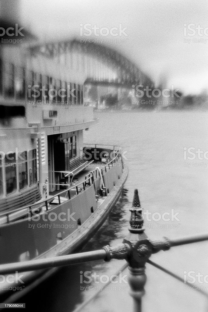 Sydney Harbour with Bridge and Ferry royalty-free stock photo